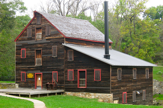 Pine Creek Grist Mill (Near Muscatine, Iowa)