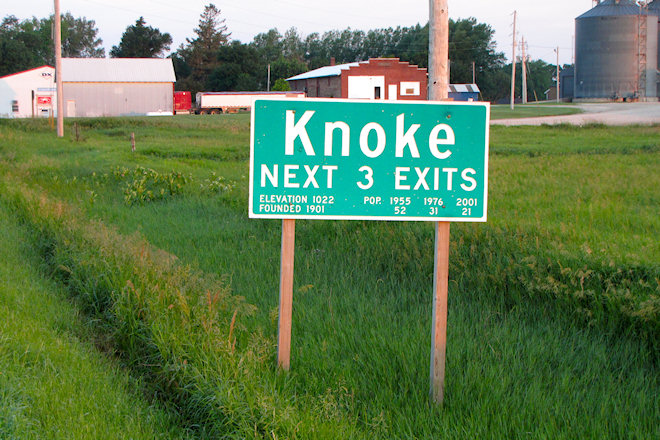 Welcome Sign (Knoke, Iowa)