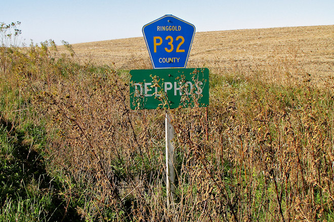 City Limits Sign (Delphos, Iowa)