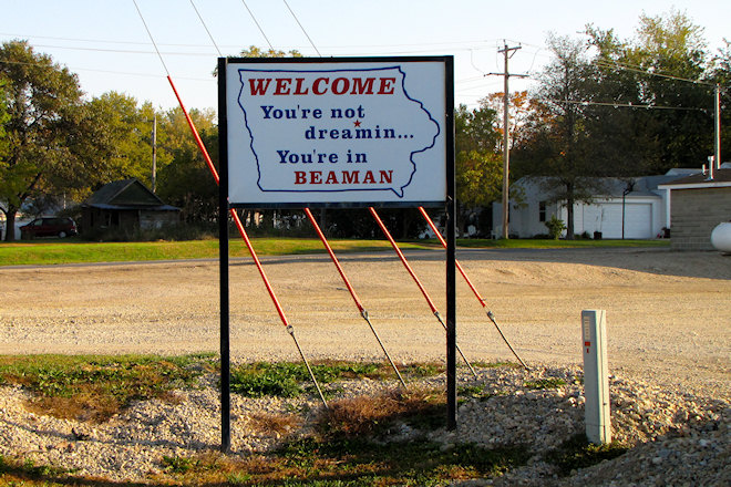 Welcome Sign (Beaman, Iowa)
