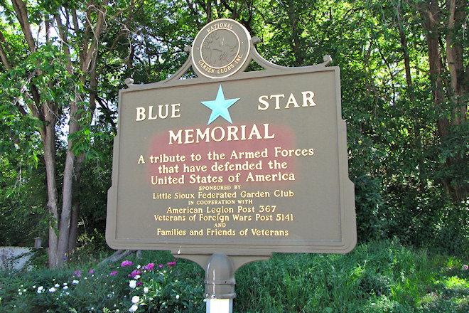 Blue Star Memorial Marker (Linn Grove, Iowa)