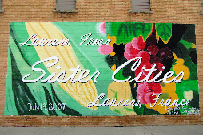 Sister Cities Mural (Laurens, Iowa)