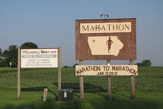 Welcome Sign (Marathon, Iowa)