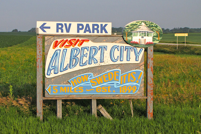 Welcome Sign (Albert City, Iowa)