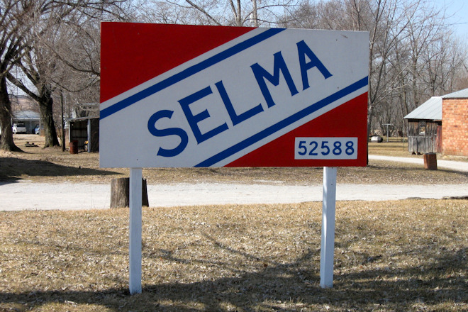Town Sign (Selma, Iowa)
