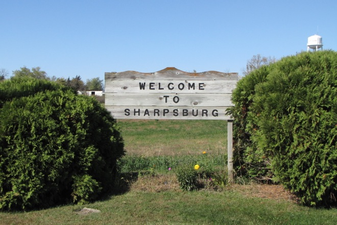 Welcome Sign (Sharpsburg, Iowa)