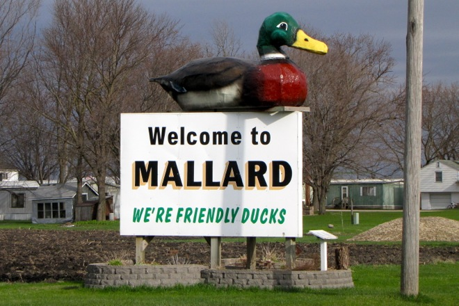 Welcome Sign (Mallard, Iowa)