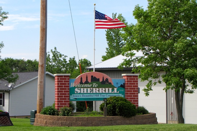 Welcome Sign (Sherrill, Iowa)