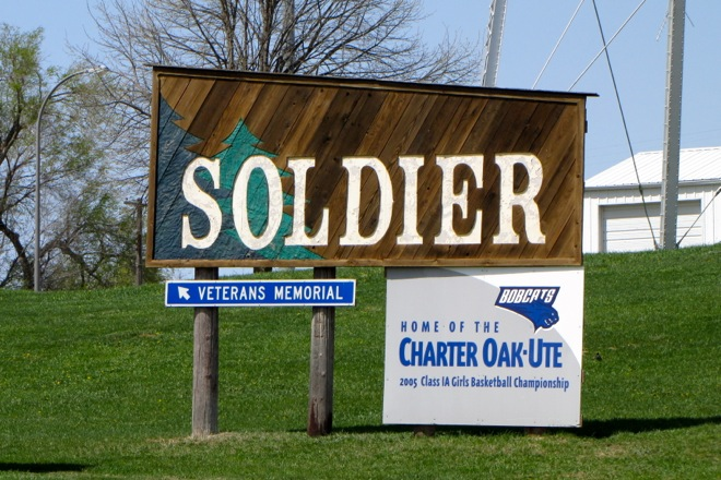 Welcome Sign (Soldier, Iowa)