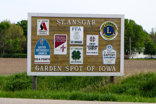 Welcome Sign (St. Ansgar, Iowa)