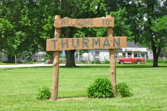 Welcome Sign (Thurman, Iowa)